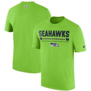 Seattle Seahawks Nike NFL Neon Sideline Legend Staff Performance T-Shirt - M