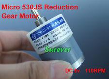 DC 6V Speed Micro 530 DC Gear Motor 110RPM Slow DC Reduction Gearmotor DIY Parts