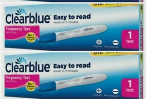 2x Pack Clearblue Pregnancy Test 99%accuracy  Results  2 Minutes