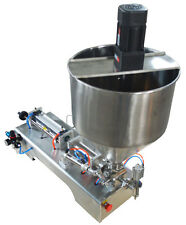 110V 50-500ml Paste Filling Machine with Vertical Mixing Both Hopper and  Hose
