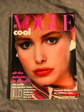 Vintage Vogue Magazine 1980's Fashion August 1982 Ralph Lauren Brooke Shields