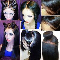 Italian Yaki Straight Wig Glueless Lace Front Brazilian Human Hair Wigs Women 02