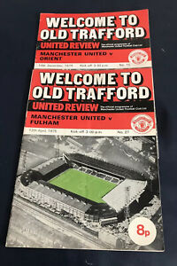 Welcome To Old Trafford : United Review : Nos: 5(1974) & 27(1975)