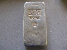 Vintage 100 oz Silver Bar Sheffield Smelting England Engelhard French CMP Stamp