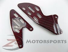 2007 2008 Yamaha R1 Rearset Foot Peg Mount Heel Guard Plates Carbon Fiber Red