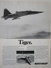 11/1972 PUB NORTHROP F-5E TIGER II INTERNATIONAL FIGHTER US AIR FORCE USAF AD