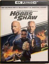 FAST & FURIOUS PRESENTS HOBBS & SHAW 4K ULTRA HD BLU RAY 2 DISC SET BUY IT NOW