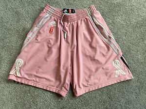Breast Cancer Awareness WNBA Women's Think Pink Authentic Basketball Shorts sz L