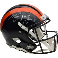 MITCHELL TRUBISKY Autographed Chicago Bears Speed Throwback Helmet FANATICS