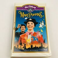 MARY POPPINS 1997 VHS Cassette Tape w/ Original Clamshell Box WALT DISNEY Collec