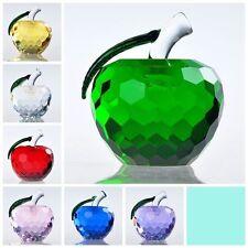Kristall Figur Apfel Glasfiguren Zuhause Dekofiguren Briefbeschwerer 40mm 60mm