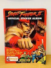 More details for street fighter ii 2 merlin 1992 nintendo capcom sticker album rare collectable