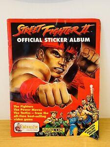 Street Fighter II 2 Merlin 1992 Nintendo Capcom Sticker Album Rare collectable
