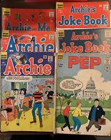 Archie, Joke Book, Archie & Me PEP Comics Lot Of 6 Silver Age