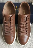 BNIB MENS POLO RALPH LAUREN JERMAIN LEATHER SHOES/TRAINERS/SNEAKERS SIZE UK 10
