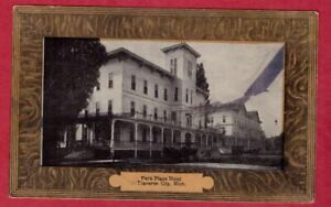 Park Place Hotel Traverse City Michigan framed style border postcard ~1910s MI