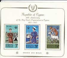 S/S: Cyprus, Sc #226a, MNH, 50th Annivrsary of Boy Scouts (17270)