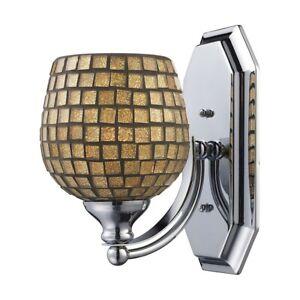 ELK Lighting Mix-N-Match Vanity 1-Light Wall, Nickel/Gold Leaf - 570-1N-GLD
