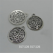 10X Tibetan Silver Flower Charms Pendant Craft Findings Jewelry Wholesale GU1011