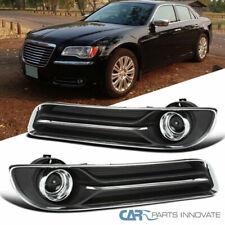 Para 11-14 Chrysler 300 Humo Proyector teñida de Conducción Faros Antiniebla Con Interruptor + Bisel