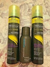 TRESemme Fresh Start Dry Shampoo 4.3 oz With Sebastian 1.7 oz Dry Clean travel