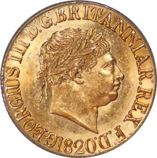 Great Britain 1820 George III Sovereign Open 2 Large Date PCGS MS-62 RARE!!