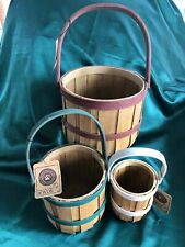 Boyds Collection - Set Of 3 Baskets - Meg'S Bushel Basket