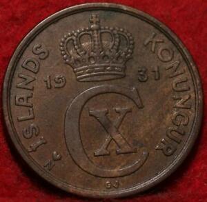 1931 Iceland 5 Aurar Foreign Coin