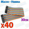 40 Cables 30cm Macho Hembra jumper dupont 2,54 arduino protoboar cable jumpers