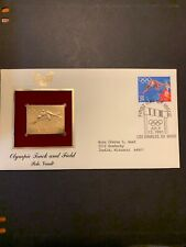 1991 - OLYMPIC TRACK & FIELD (Pole Vault).  Gold Replica FDC (by PCS). Addressed