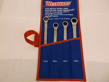 New 4 Pc Metric Extra Long Ratcheting Wrench Set  17,18,19,20 MM  (E74C)
