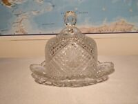 Vintage 1973  AVON ~~ Crystal  Butter Dish with Dome Lid ~~ by Fostoria