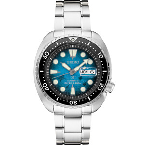 "Seiko Prospex Automatic King Turtle "" Manta Ray "" Blue Dial Men's Watch SRPE39"