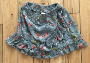 Girls Next Grey Floral Skirt Age 7 Years