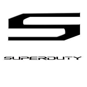 "Recon ""Super Duty"" Black/Chrome Lettering Kit For F 250 / F 350 / F 450 / F 550"