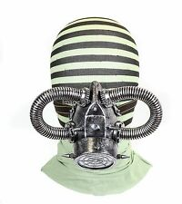 Gas Mask Respirator Antique Silver Punk Goth Cyber Halloween Steampunk party