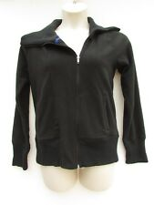 GAP Outlet Womens NWT Large Black Fleece Jacket Zip up Ribbed Hem Neck DC1