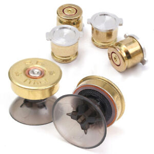 4x Gold Metal Buttons Shell&2x Thumbstick Replacement Kit For PS4/PS3 Controller