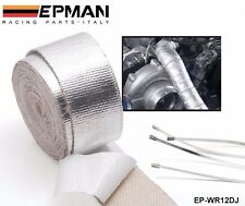 EXHAUST HEADER TURBO MANIFOLD PIPE HEAT SHIELD WRAP TAPE ALUMINIUM REINFORCED