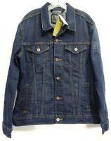 New Signature By Levis Unisex Stretch Blue Button Jean Denim Trucker Jacket L