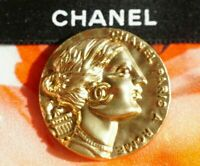 Vintage Chanel button 1 pieces   metal cc  1 inch 26 mm  💄