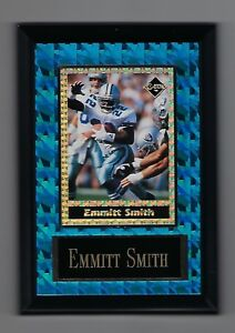 "Vintage 1994 6.5"" x 4.5"" Card Plaque Emmitt Smith Investor Focus Cowboys #2"