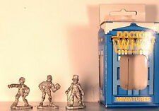 Vintage Doctor Who Miniature Boxed Set of 3 Time Lords FASA-9507