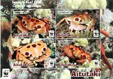 Aitutaki - Postfris / MNH - Sheet WWF, Crab 2014