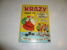 KRAZY Comic ANNUAL - Year 1978 - UK Fleetway Annual