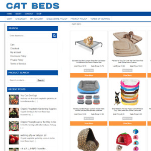 CAT BEDS BUSINESS WEBSITE WITH 1 YEARS HOSTING + NEW DOMAIN - EASY ECOMMERCE