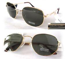 NWT Calvin Klein Mens Sunglasses CK19154S Gold/Green-small defect