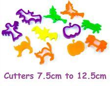 6 Chunky HALLOWEEN Dough & Cookie Cutters Witch Spider Ghost Cat Pumpkin Bat