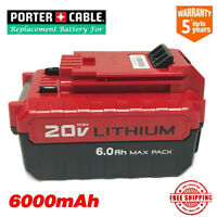 For Porter Cable 20v Max 6.0Ah Lithium-ion replacement battery PCC685L PCC680L