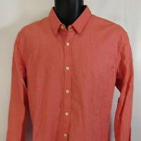 Scotch & Soda Amsterdam Couture Shirt Men's Size L Pink Large Button Front